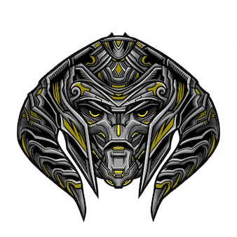 Warrior robot yellow mask