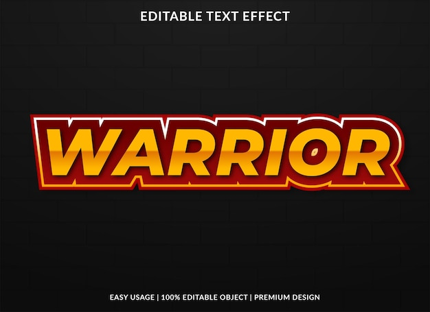 Warrior text effect template