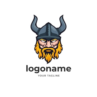 Warrior viking logo mascot for e sport gaming style technology business company