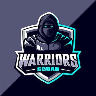Воины киберспорт дизайн логотипа