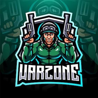 Дизайн логотипа талисмана warzone esport