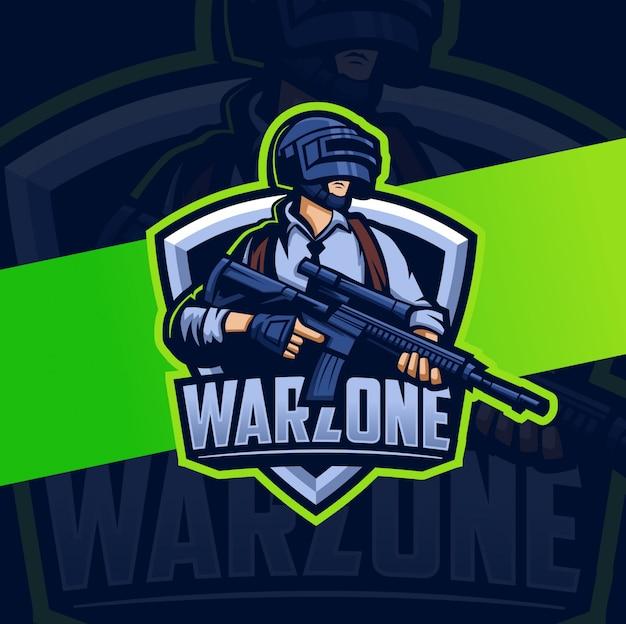 Warzoneマスコットキャラクターゲームマスコットesportロゴ