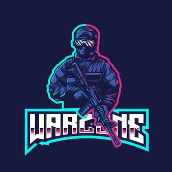 Warzone esportのロゴのテンプレート