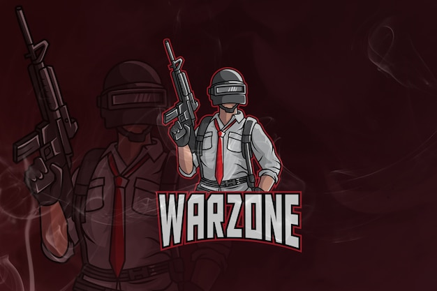 Warzone gaming army mascot and esport logo