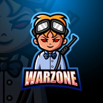 Warzone mascot esport logo illustration