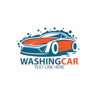 Wash car logo template