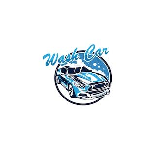 Wash car logo