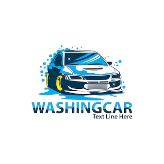 Wash car logo