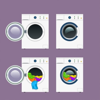 Wash machine set