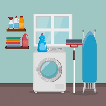 Wash machine with laundry service