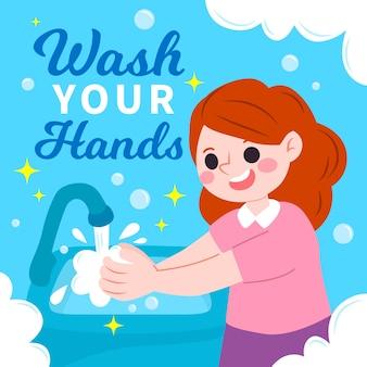 手を洗ってアドバイス