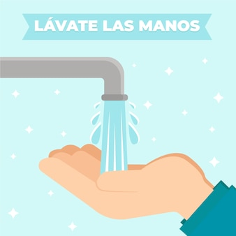 Lavati il concetto delle mani