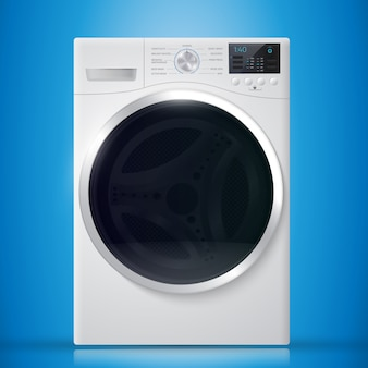 Washer on blue background.