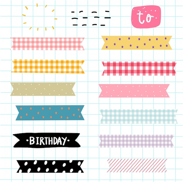 Washi tape elements