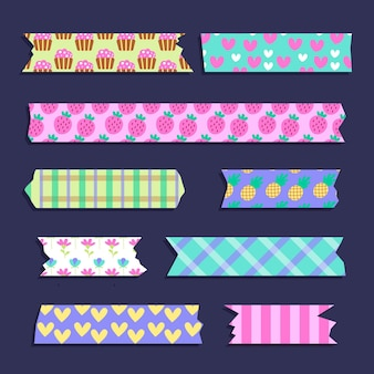 Washi tape with cute fruit and heart shapes