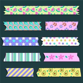 Washi tape with flowers and fruit