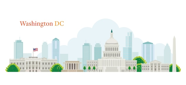 Washing dc skyline concept