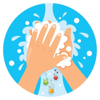 Washing hands for daily personal care