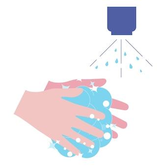 Мытье рук с мылом мытье рук с мылом для предотвращения вирусов и бактерий