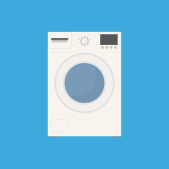 Washing machine icon flat style