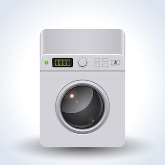 Washing machine realistic vector illustration