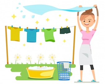 Washing on a sunny day