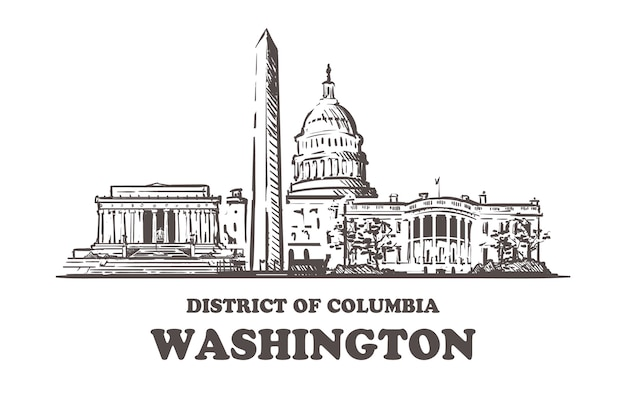 Washington cityscape, district of columbia