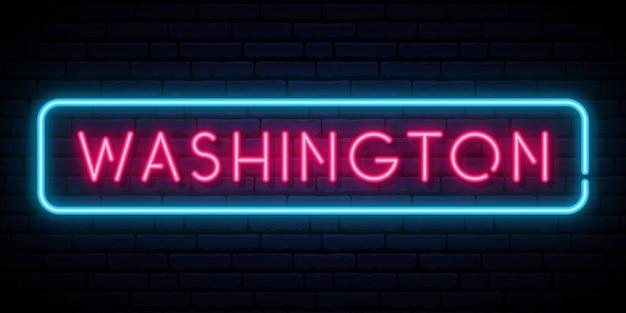 Вашингтон неоновая вывеска
