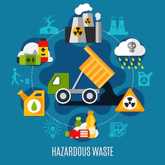 Waste and pollution illustration