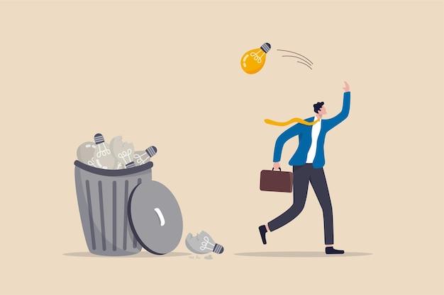 실행 불가능한 아이디어, 사업 실패 또는 너무 많은 버려진 프로젝트를 낭비했습니다.