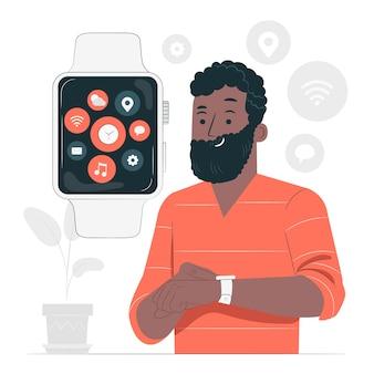 Guarda l'illustrazione del concetto di app
