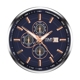 Watch clock chronograph stainless steel copper