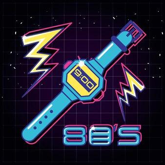 Watch and label eighties retro