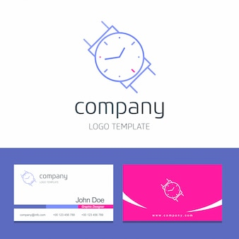 Watch logo and business card