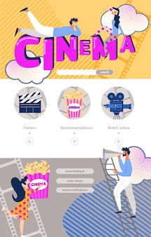 Watch movie online mobile phone application design