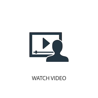 Watch video icon. simple element illustration. watch video concept symbol design. can be used for web and mobile.