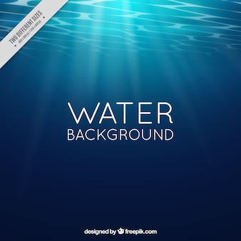 Water background with sun rays