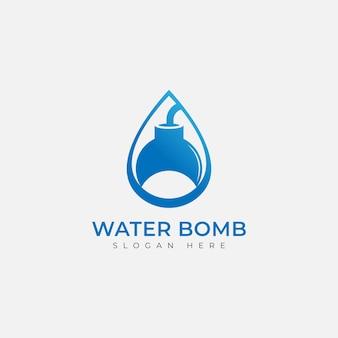 Water bomb logo icon design template