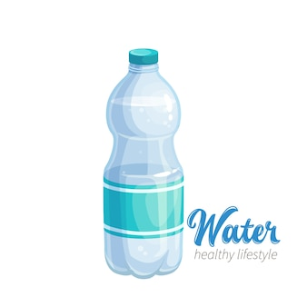 Water bottle icon. illustraion for promote a healthy lifestyle