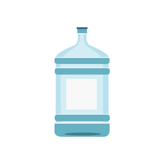 Water bottle isolated in white illustration