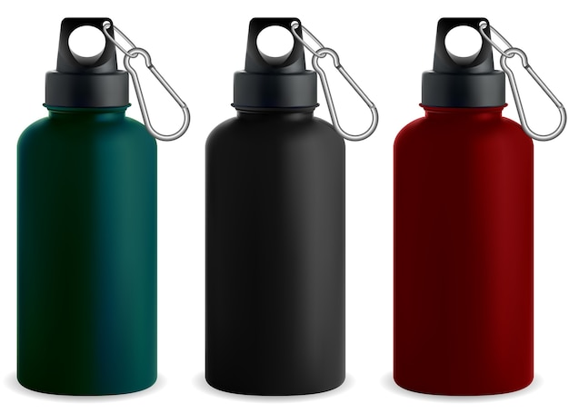 Water bottle. stainless steel metal thermo flask.