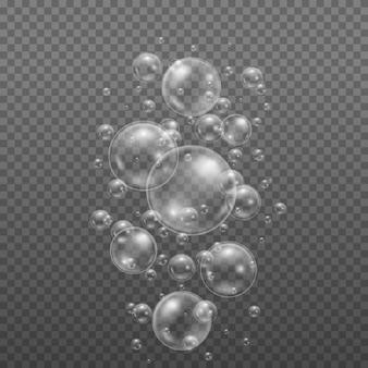 물 거품 구체 광택 디자인