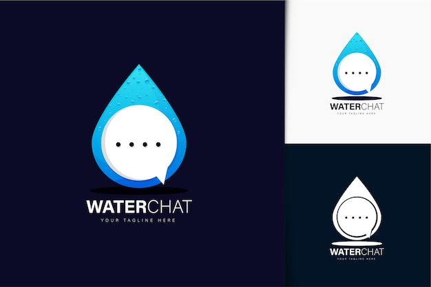 Water and chat logo design