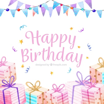 Water color birthday party background