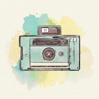 Collezione di fotocamere a colori ad acqua