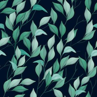 물 색깔 잎 원활한 패턴