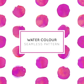 Water Colour Pink Dot Seamless Pattern