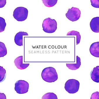 Water Colour Purple Dot Seamless Pattern