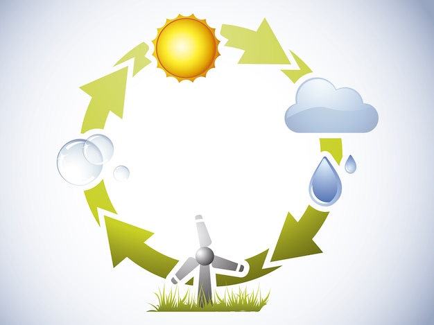 Water cycle background