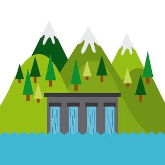 Значок водяной плотины